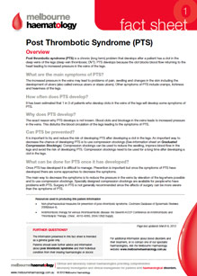 Post Thrombotic Syndrome (PTS) - Fact Sheet